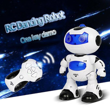 Children Electric RC Dancing Robot Intelligent Robotic Creative Musical Electronic Toy Walk Dance Lightenning Christmas Gift