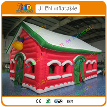 free air shipping to door,2017 new design custom giant inflatable christmas house tent/christmas inflatable santa grotto(China)