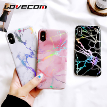 LOVECOM Fashion Laser Marble Texture Phone Case For iphone 6 6S 7 7 Plus X Soft IMD Mobile Phone Back Cover Coque For IphoneX(China)
