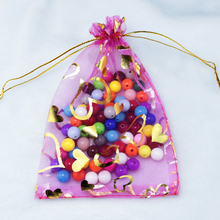 Free Shipping 500Pcs/lot Hot Pink Organza Bag 11x16cm Jewelry Candy Gifts Packaging Bag Pouches Wedding Favor Organza Gift Bags(China)