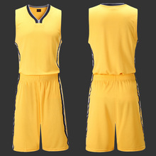 Mens Basketball Jersey Blank Jerseys Sports Training Shirt Set Male Basketball Clothes Team Uniform for Basketball Team(China)