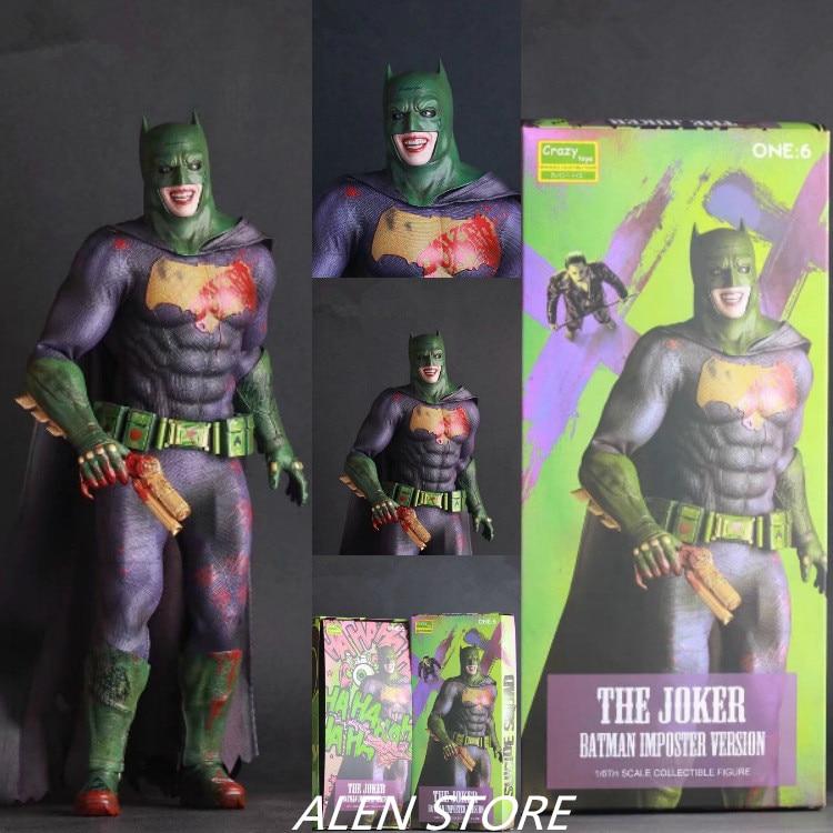 ALEN Joker Action Figure Crazy Toys Batman Imposter Ver. Joker PVC figure Toy Brinquedos Anime 28CM<br>
