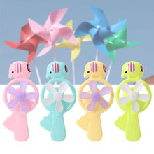 Portable Kids Toys Mini Manual Hand Fan Handheld No Battery Operated for Cooling
