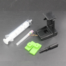 10set Ink Cartridge Absorption Clamp Pumping refill tool kits for HP 21,22 60 61 56 57 901 121 300 PG40 50 830 for Lexmark 26 16