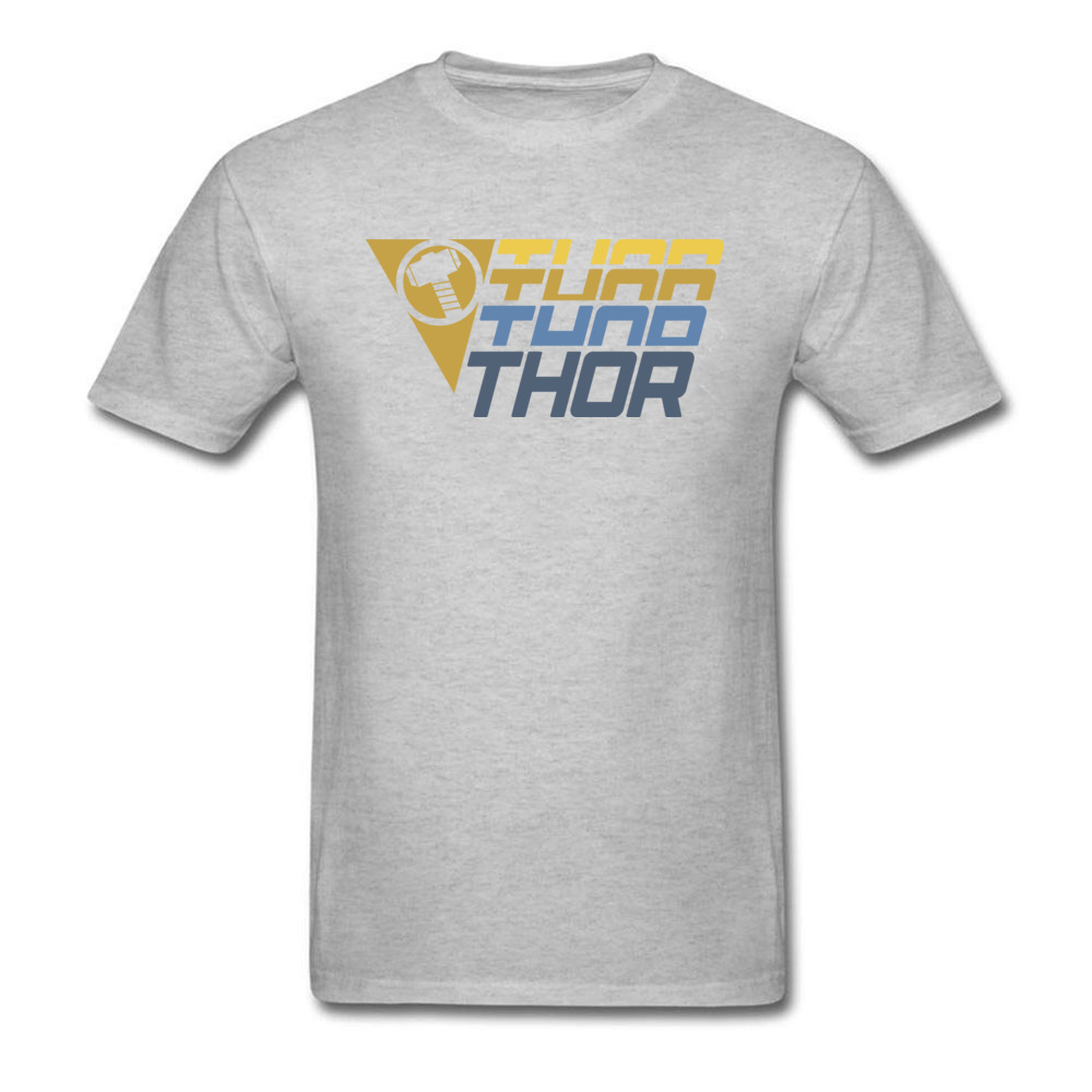 Star Wars Thor Logo Cotton Men Short Sleeve Tops & Tees Funny NEW YEAR DAY T Shirts Geek Tshirts Designer O Neck Thor Logo grey