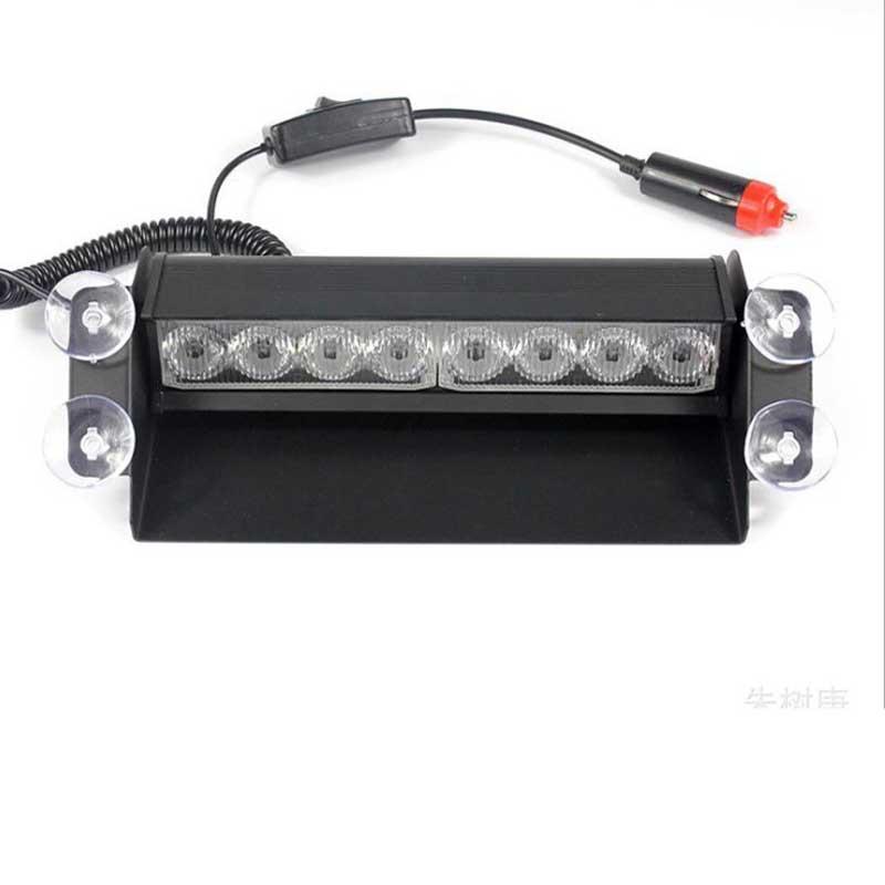 Universal 12V 8 LED Flash Beacon Strobe Warning Lights Car Truck Red/Blue Color<br><br>Aliexpress