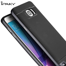 For Samsung Galaxy Note 5 case Original Ipaky Dual Hybrid Luxury Silicon Case Cover & Plastic Frame for Samsung Note5 Phone Case