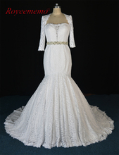 High Quality New lace Wedding Dresses wedding gown Bridal Gown Custom Size Factory supplier wholesale price 2017(China)