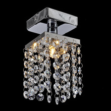 Mini Crystal Pendant Light Lustre Crystal Lighting Fixture Small Clear Crystal Lustre Lamp Lustres WPL044
