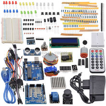 Ultimate Starter Kit including Ultrasonic Sensor, UNO R3, LCD1602 Screen for Arduino Mega2560 UNO Nano with Plastic Box