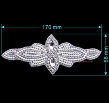 Iron On Rhinestone Motif Sew On Pearls Patches Hotfix Motifs Sewing On Crystals Patch For Bridal Wedding DIY New I Piece