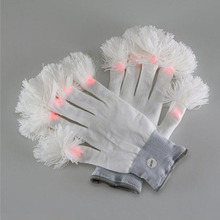 20pair Led Gloves Luminous Flower Finger Light Gloves Party Supplies Dancing Club Props Light Up Toys Glowing Gloves ZA3705