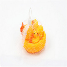 HEY FUNNY 12*9*7cm  floating ducks baby bath toy a mother duck and three duckling suit baby products supply