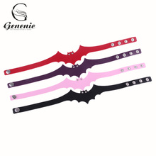 1 Piece Women Fashion Gothic Bat Wings Charm Collar Choker Necklace Synthetic Leather Punk Bib Necklace(China)