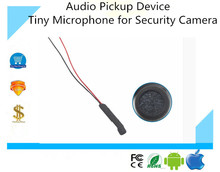 CCTV Clear High Sensitive quality Audio Pickup Device Tiny Microphone for Security Camera Two stage amplifier waterproof 5pc/lot(China)