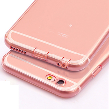 New Arrivel Soft TPU Case with Dust Plug for Apple iPhone 6 6s 4.7inch premium Crystal Ultrathin Dustproof protect camera design