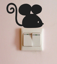 Korean wall stickers cute little mouse tail volume switch stickers children's room college male dormitory bedroom decor