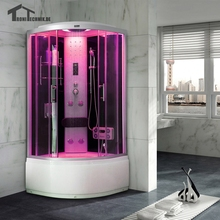 90cm Black Bath Cabin shower Room NO Steam Shower room hydro Cubicle Enclosure  cubicle Enclosure glass walking-in sauna 903