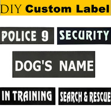2Pcs Custom Pet Name Dog Harness Collar Leash Label Personalize Service Security Dog DIY Name Tag Cat Harness Vest Label Sticker(China)