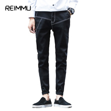 Buy Reimmu Black Jeans Men Pants New Fashion Famous Brand Clothing Male Jeans Plus Size Slim Male Clothes Casual Men Trousers Sale for $25.62 in AliExpress store