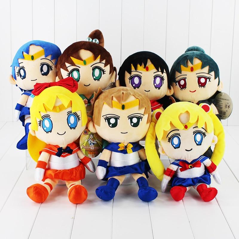 Sailor Moon Mars Jupiter Venus Mercury Uranus Pluto Plush Toys Stuffed Dolls With Tag 30cm<br><br>Aliexpress