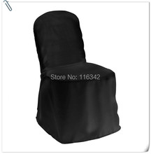 100pcs Black Polyester Chair covers for wedding banquet /banquet chair covers /chair cover FREE SHIPPING(China)