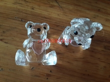 Free Shipping Wedding Gift Baby Shower Favors Choice Crystal Collection Bear Figurines Blue Crystal Color,30pcs/lot