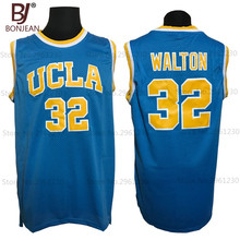 BONJEAN Cheap 32 Bill Walton UCLA Bruins College Basketball Jersey Embroidery Logos Blue Stitched Jerseys