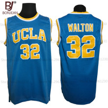 BONJEAN Cheap 32 Bill Walton UCLA Bruins College Basketball Jersey Embroidery Logos Blue Stitched Jerseys(China)