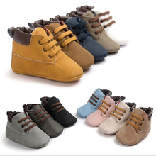 ROMIRUS Autumn Winter Suede Leather Baby Moccasins Shoes Infant Anti-slip First Walker Soft Soled Newborn Baby Boy Boots