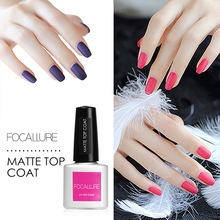 FOCALLURE 7ml Cleaning Matt Top Coat Matt Lacquer Gel Nail Polish Matte Nail Primer Layer Varnish Matte Top Gel Polish Nail(China)