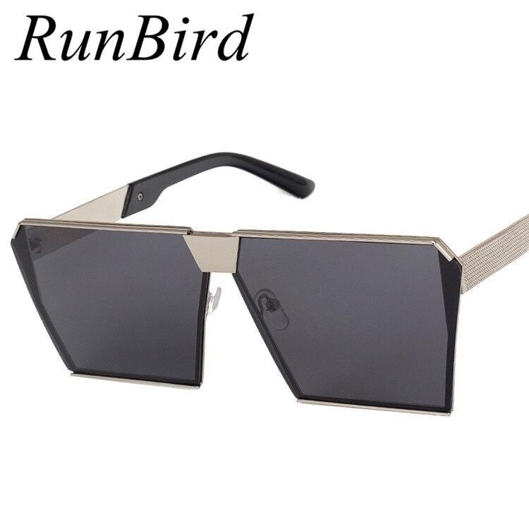 Brand Designer Celebrity Metal Men Oversized Sunglasses Fashion Luxury Square Sunglasses Women Mirror Lens Oculos De Sol R099<br><br>Aliexpress