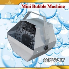 New Mini Bubble Machine Stage Effect NEW Automatic Metal Bubble Maker Blower Machine For Party Stage Wedding(China)