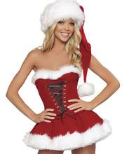 Sexy Women Christmas Costume Sweetheart Miss Santa Dress