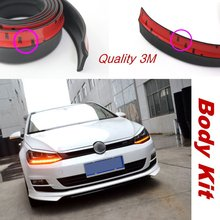 Car Bumper Lip Deflector Lips For Volkswagen VW Gol Parati Pointer Saveiro / Front Spoiler Skirt / Tunning View / Body Kit Strip