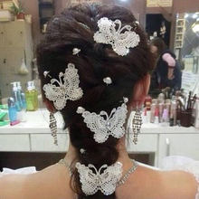 10pcs Wedding Hair Accessories Crystal Handmade Lace Bridal Barrettes Hair Jewelry Romantic Bridal Hair Accessories Shop Stock