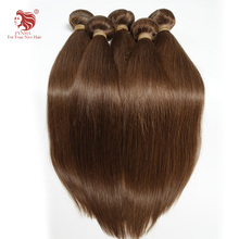 1pcs/lot Grade 6A 12-24inch european remy hair extensions 4# grade 6a straight human hair weaves fast shipping