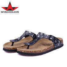 CoolFar home shoes for women and women's cork sandals 2017 summer best sale  fashion women flip flop with flower print color
