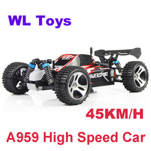 Wltoys A959 RC Car 4WD 2.4G High speed Remote Control Toys Off-Road RC Monster Truck Vehicle 45KM/H(China)