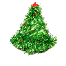 1 Pcs/set Cute Christmas Hats Red Silver Green Tree With Star Christmas Caps For Adult And Kids Xmas Decor Home Party Supplies(China)