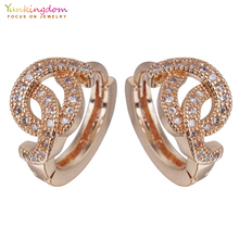 Yunkingdom Gold Color Cubic Zirconia Fashion Small Hoop Earrings for Women New Hoops K2064(China)