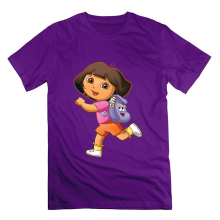 Anime Print Tee Shirt Brand Dora Explorer Funny 100% Cotton T Shirt Cartoon tee shirt homme high quality top tees