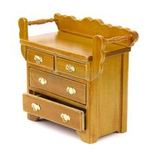 SPMART 1/12 Dollhouse Drawer Chest Miniature Furniture for House Decoration with 4 movable drawer