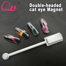 QZC New Double-headed Magnetic Plate Magnet Pen 1 PC CANNI Nail Art DIY Tool for All Magic 3D Cat Eyes Magnet Nail Gel Polish