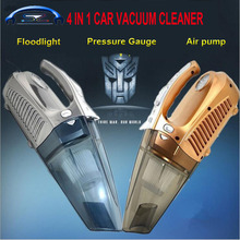 Hot multi-function Portable Car Vacuum Cleaner Wet and Dry Aspirador pressure pneumatic lighting12V 4 IN 1 120W High-Power
