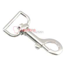 "10 pcs 1"" 25mm Metal SWIVEL CLIP SNAP Hook TRIGGER Webbing bag lanyard F49(China)"