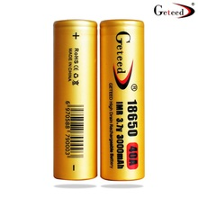 GETEED 18650 3000mAh 3.7V 40A Rechargeable batteries battery max discharge 60A Vaporizer ego aio Vape better HG2 SS 30Q - Good china product Store store