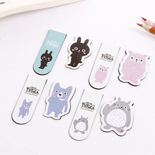 E54 2pcs/pack Kawaii Cute Totoro Tutula Magnetic Bookmarks Book Marker of Page Stationery School Office Supply Student Rewarding