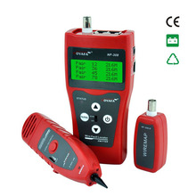 Network monitoring cable tester LCD NF-308 Wire Fault Locator LAN Network Coacial BNC USB RJ45 RJ11 red color(China)