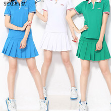Sexemara New tennis women skorts girl badminton skirt ladies tennis sport skirts shorts thin